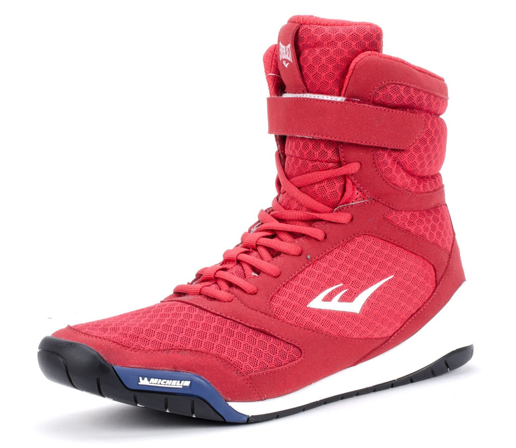 Red Everlast Elite High Top Boxing Shoe