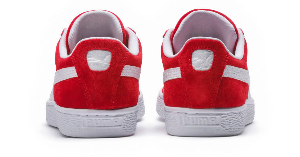 Red Suede Classic B-Boy Sneakers by Puma