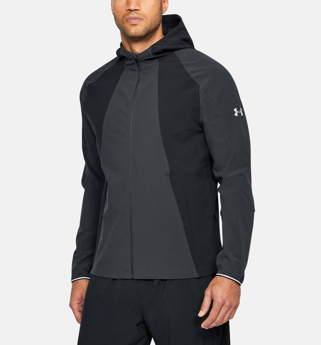 UA running jacket with reflective details