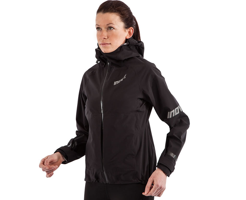 Waterproof running jacket with hood by Inov-8