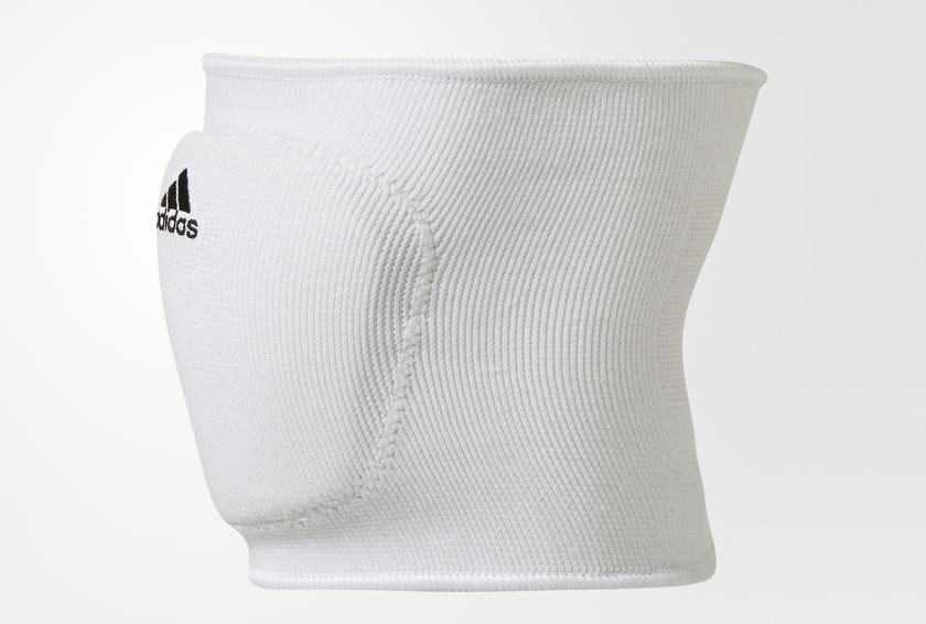 White 5-Inch Volleyball Knee Pads by Adidas