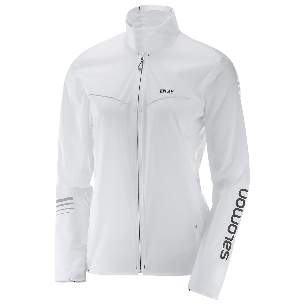 White S LAB Light JKT Running Jacket by Salomon