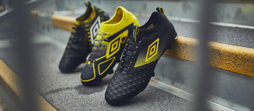 Black And Golden Kiwi Soccer Boot Pack by Umbro