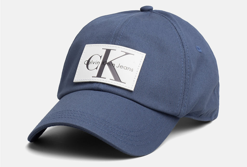 Leather Patch Baseball Cap by Calvin Klein