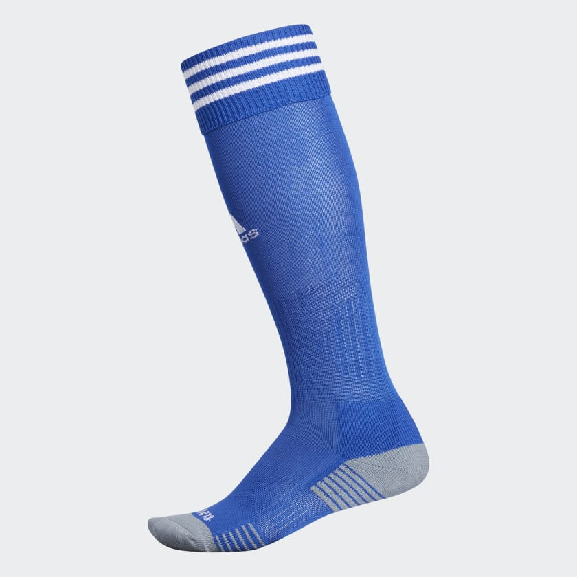 Blue soccer socks by Adidas