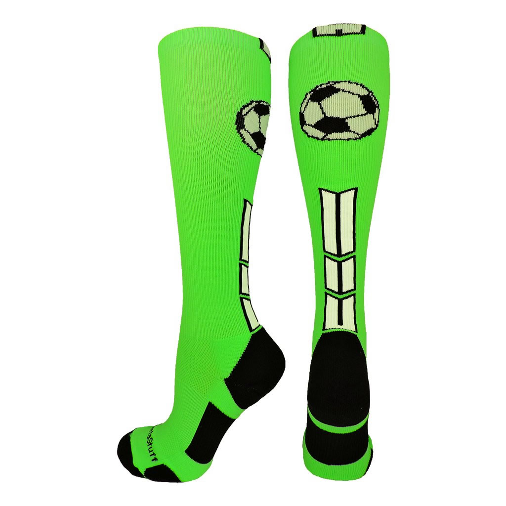 Green soccer socks from Madsportsstuff