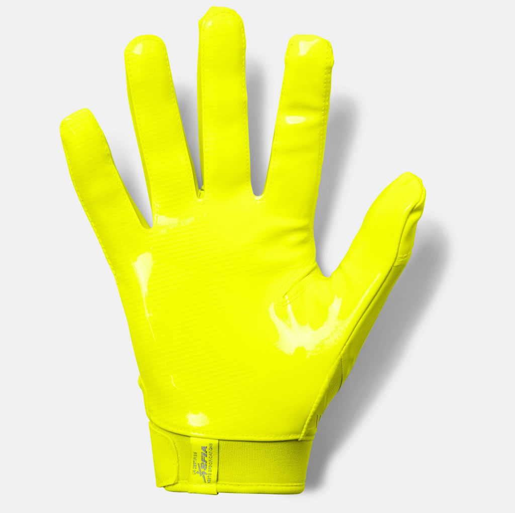 Mens football gloves for receivers by UA