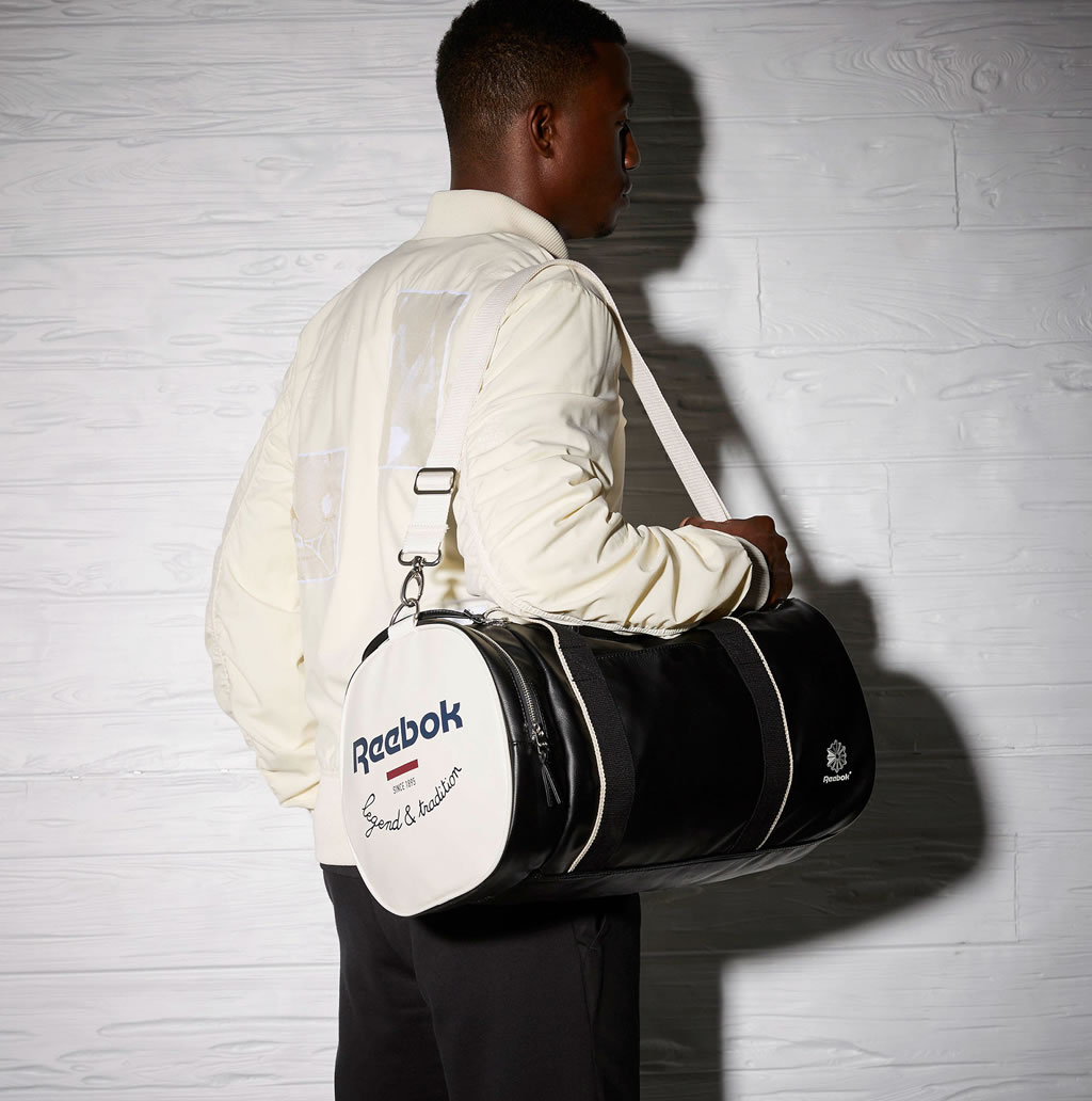 Reebok Leather Classics Court Duffel Bag