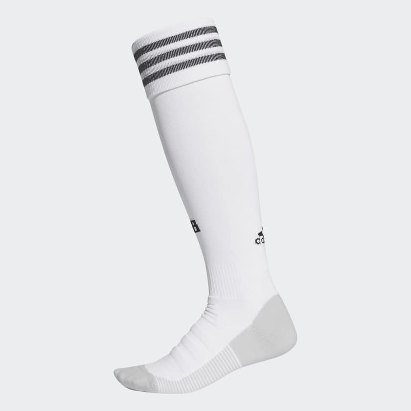 White soccer socks by Adidas
