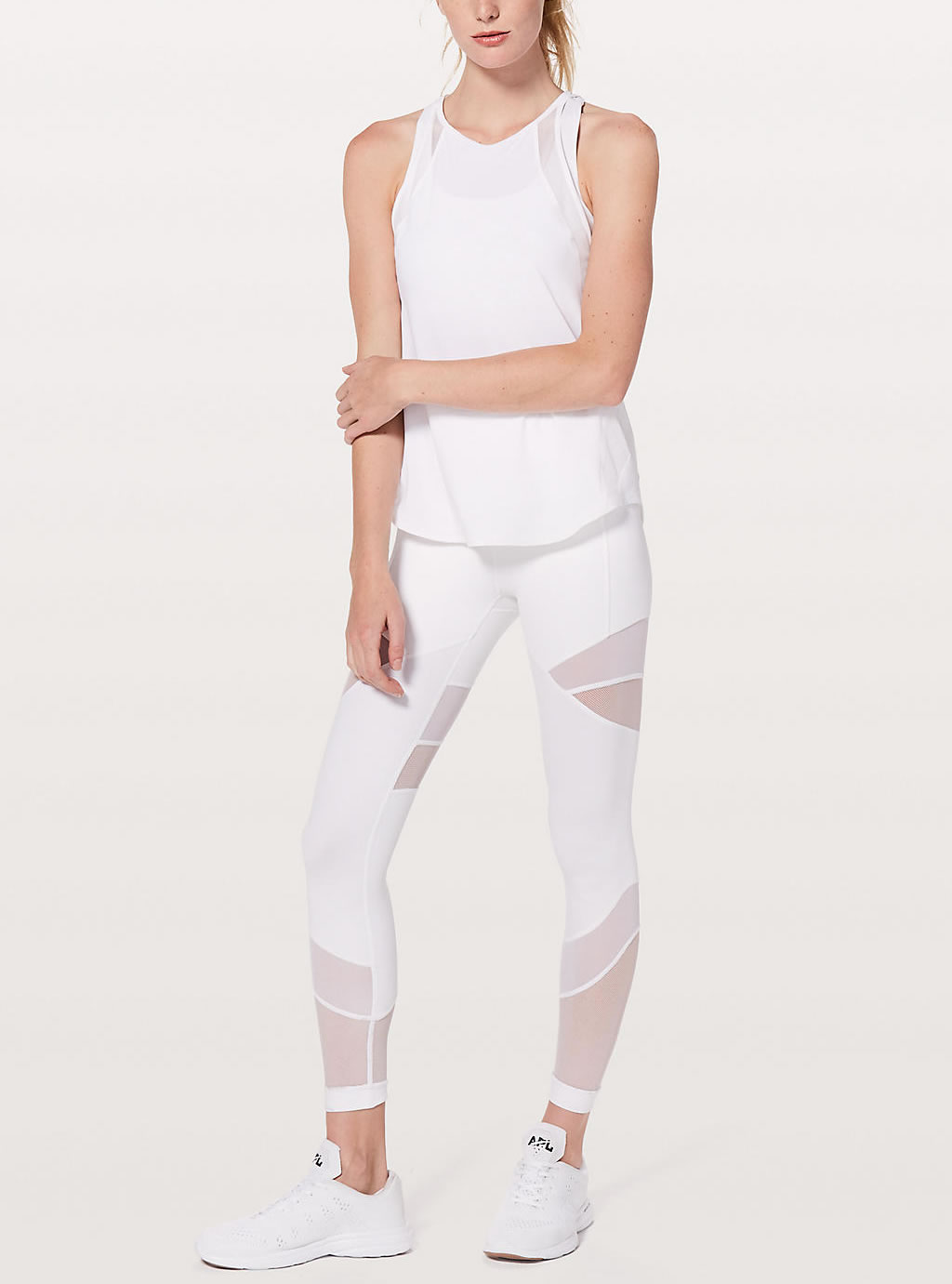 White yoga tights by Lululemon