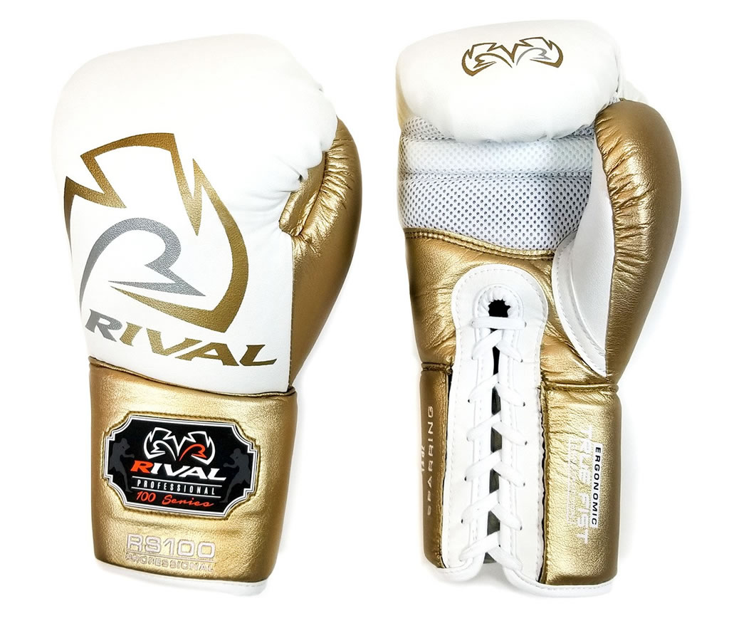 Rival RS100 Sparring Gloves White-Gold